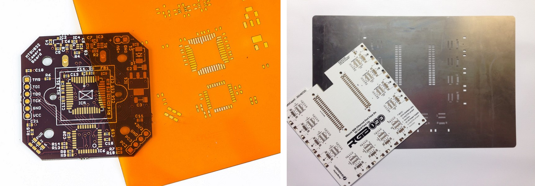 Stencils Ohararp Llc Smt Soldering The Sole Purpose Of An Stencil Is To Transfer Solder Paste A Bare Circuit Board Stainless Steel Foil Laser Cut Creating Opening For Every